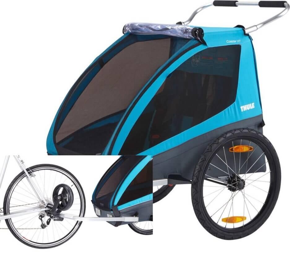 carrellino rimorchio bambini per bici
